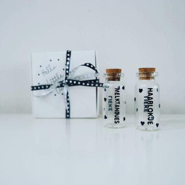 melktandendoosje, eerste haarlokje, kraam cadeau met naam