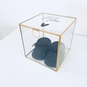 glazenbox met naam, kraamcadeau met naam